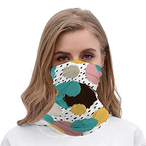 Pañuelos para el cuello, bufanda, protección de la cara, para bebé, romántico, color rosa burbuja de lunares, para exteriores, festivales, deportes,  estilo13, Talla única