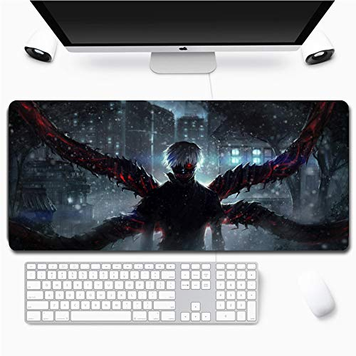 Tokyo Ghoul Gaming Mouse Pad Anime Mouse pad Tokyo Ghoul Large Mouse Pad XXL Gamer Big Mouse Mat Computer Desk Mat XXL Keyboard Pad (90 x 40cm)