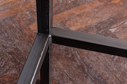 Stehtisch Bartisch Tresen Bar IndustrieDesign Loft (ein Set: 66er Tisch +2 Hocker, Eiche natur) - 6