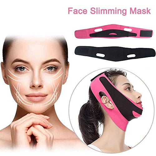 V Line Shaping Lift Up Band, Chin Thin Cheek Mask, Ultra-Mince Lift Up Anti Ride Mask, All Night Lifting Contour Tools Facial Slimming for Care Neck ( 2pcs )