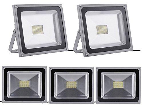 Leetop 5 X 80W Blanco Frio Luz Proyector LED Foco Proyector, IP65 Impermeable Resistencia