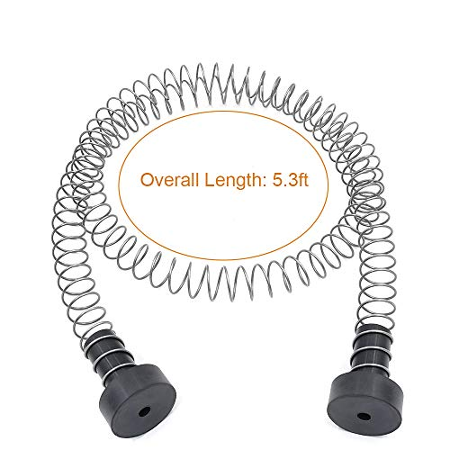 Zixar Zipline Stopper, Kids Backyard Zip Line Spring Stop / Brake Kit System 5.3ft, Zipline Parts for 3/16 1/4 5/16 3/8 Inches Cable