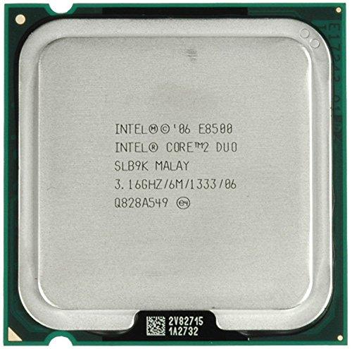 Intel Core 2 Duo E8500 - 3.16 GHz, 1 MB de caché, 1333 MHz FSB – Skt 775 – Tray