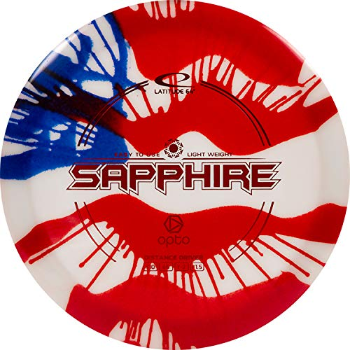 Latitude 64 MyDye American Flag Disc Golf Discs | Maximum Distance Drivers | Stable Midrange | Frisbee Golf Discs |170g Plus | Stamp Color Will Vary (Hybrid Sapphire)
