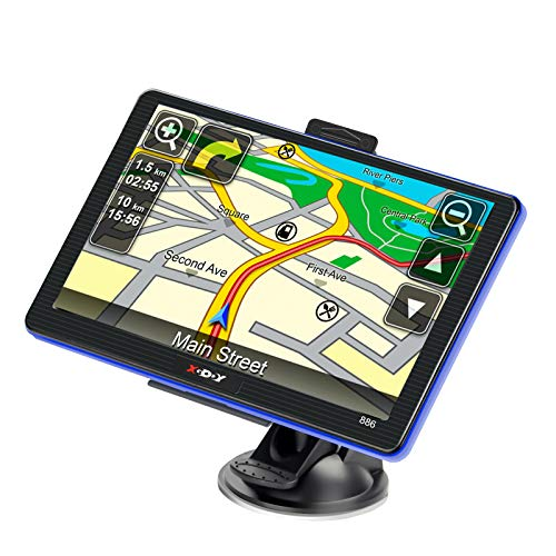 touchscreen with gps GPS Navigation for Car Truck Lifetime Maps Update Car Navigator Touchscreen 7 Inch 8G 256M Navigation System with Voice Guidance and Speed Camera Warning Driver Alerts