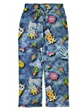 Mens Pizza Cat Palm Tree Cactus Pineapple Sleep Lounge Pants Pajama Bottoms M Blue