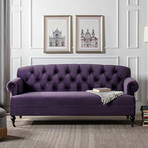 Jennifer Taylor Home Mackenzie Sofa, Purple
