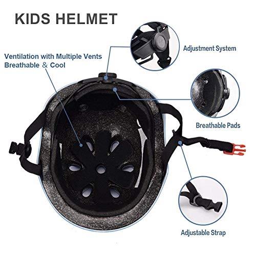 XJD Kinder Helm Skaterhelm Fahrradhelm Verstellbar CE-Zertifizierung Kinderhelm mit Luftlöcher für Fahrrad Motorrad Skateboard Schifahren 3-13 Jahres Kinder Junge Mädchen - 6