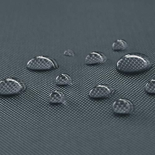NOVELY® Oxford Big | Waterpoof | 1 lfm | Polyester 600D Stoff | Wasserdicht | Outdoor | PVC | Meterware | Extrem Reißfest | Robust 02 Graphit