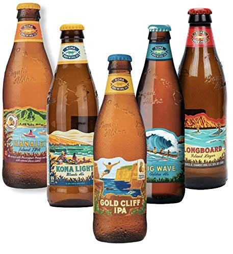 Kona Brewing aus Hawaii USA - 5 Flaschen CRAFTBEERSET - KONA - je 0,33l inkl 1,25 EUR Pfand