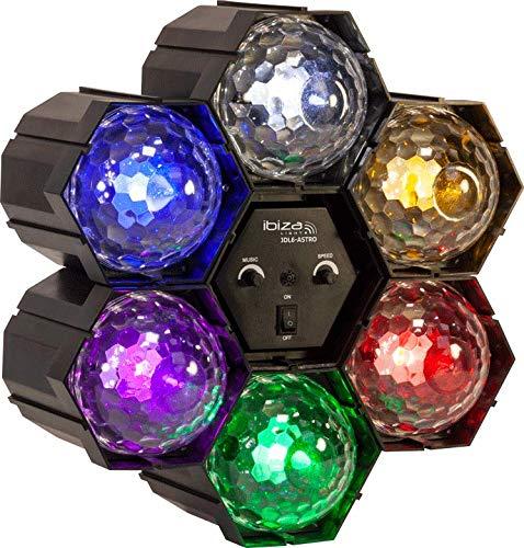 IBIZA JDL6-ASTRO LICHTORGEL 6 LED-ASTRO EFFEKT DEKO BÜHNE PARTY DISCO MUSIK CLUB DJ