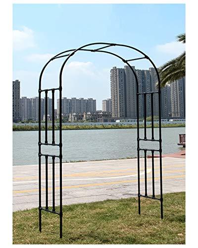 HLMBQ Arco de Metal para Jardin,Arcos de Flores Enrejado,al óxido,Resistente a la Intemperie Césped Al Aire Libre Varias decoración de Ceremonia 120x240cm,180x240cm,200x240cm Negro