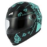 Astone Helmets gt2g-ladyc-bgxs casco Moto Integral GT Lady Custom, Negro/Verde, talla XS