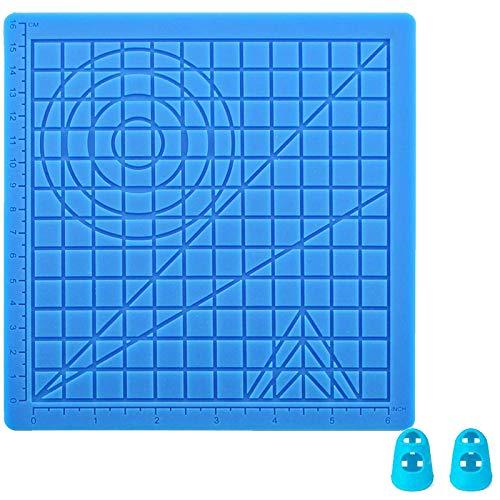 3D Stifte Matte,3D stift Vorlage,DOLYUU 3D Druckstift Vorlage,3D pen Vorlage,3D Zeichenschablonen für Anfänger,Kinder und 3D-Stiftkünstler,mit 2 Finger Stall