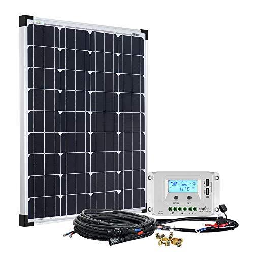 Offgridtec Solaranlage basicPremium-M 80W 20A LCD Laderegler Profi Kabelkit