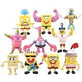 Mini Juego De Figuras, 10 Pcs/Set Dibujos Animados Bob Esponja, Caricatura Cake Topper Niños Mini Baby Shower Fiesta De Cumpleaños Pastel Decoración Suministros