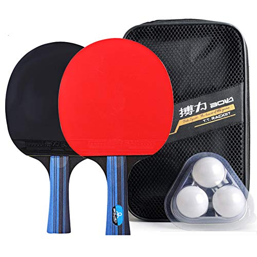 Check Out This LFF TENT Table Tennis Rackets Set of 2 Ping Pong Paddle and 3 Balls and Portable Stor...