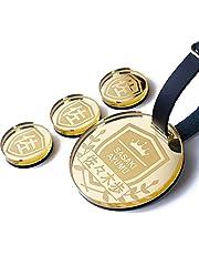 ネームプレート ゴルフ ゴルフタグ ゴルフマーカー 丸型 メダル風 バッグタグ 名前キーホルダー