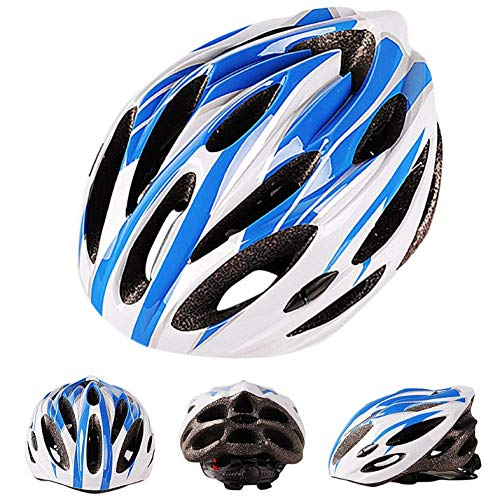 GUONING-L Helmet, Helmet Bicycle Cycling Ultra Light Bicycle Helmet Carbon Cycling Protection Bicycle Cycling Skate Helmet Multicolor Mountain Bike Cycling Helmet Blue 55Cmx61Cm