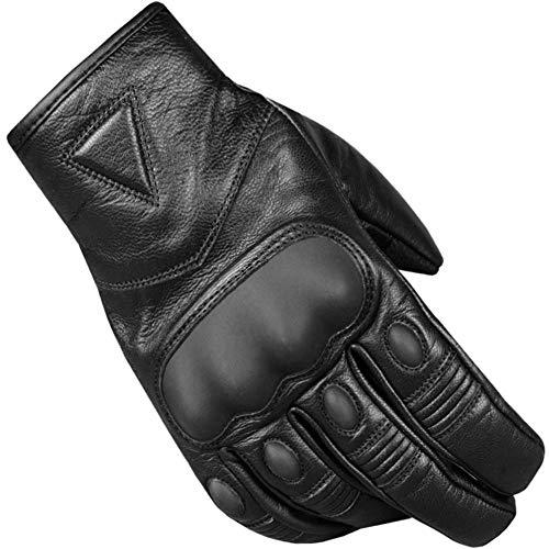 Men's Premium Leather Protective Cruiser Street Motorcycle Biker Gel Gloves S