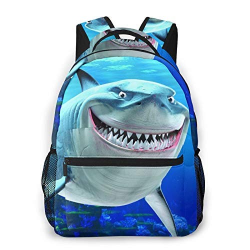 Fin-Ding Ne-Mo Canvas Backpack School Bag Casual Travel Daypack Laptop Backpack for Adult Teen Student