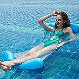 FANIER Flotador hinchable Piscina Flotador Hamaca de Natación, Flotador ligero de asiento cama de hamaca para playa o vacaciones, color azul