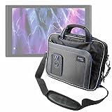 DURAGADGET Maletín con Diseño Innovador para Tablet Medion Akoya E1239T (MD 60791), Medion LifeTab P9701 (MD 60384) - En Color Negro Y Azul