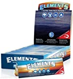 Elements 1 1/4 Size Ultra Thin Rice Rolling Paper with Magnetic Closure (5 Pack)