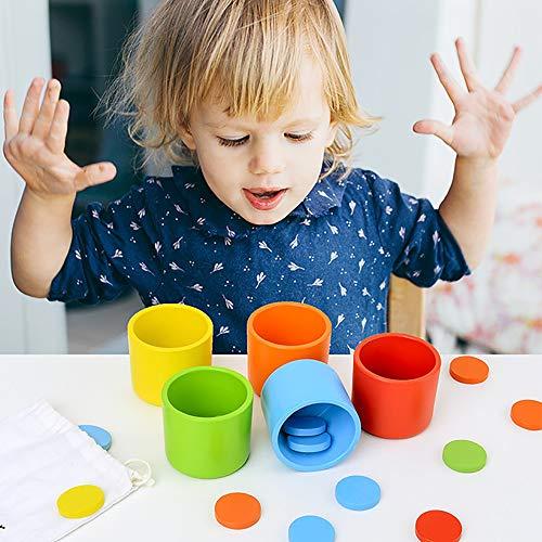 JW-YZWJ Farbe Klassifizierung Cup Kindergarten Tischspiele Holzspielzeug Entwicklung Puzzle Multifunktionsbausteine