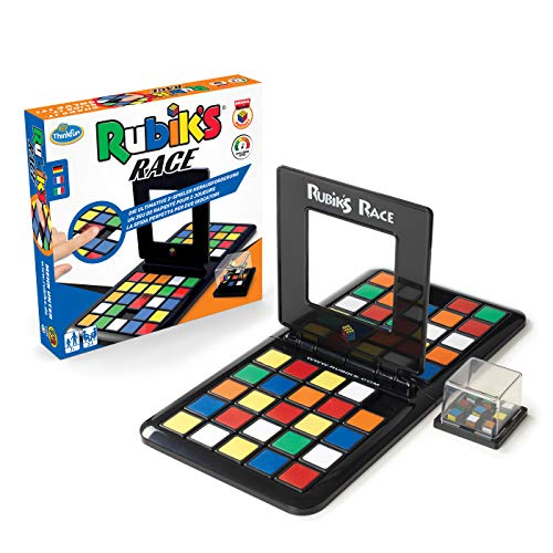 ThinkFun Rubik's Race - Die Herausforderung für Fans des original Rubik's Cubes, temporeiches Spiel für 2 Spieler, Denkspiel für Erwachsene und Kinder ab 7 Jahren