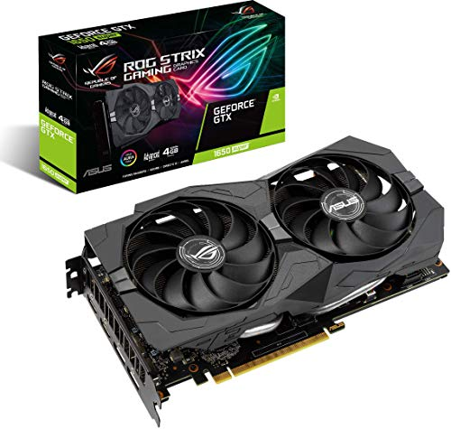 ASUS ROG Strix GeForce GTX 1650 Super Advanced 4GB Edition GDDR6 HDMI 2.0 DP 1.4 Gaming Graphics Card (ROG-STRIX-GTX1650S-A4G-GAMING)