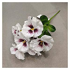 JJSNN Artificial Flowers 11 inch Artificial Pansy Flowers Silk Fake Butterfly Orchid Flower