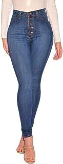 High Waisted Skinny Denim Jeans Women Stretch Slim Pants Calf Jeans