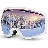 Baban Schutzbrille, Skibrille zum Skifahren, UV-Schutz, Anti-Fog, Snowboardbrille Kompatibel mit Helmen und Brillen, verwendet beim Radfahren, Wandern, Skateboarden