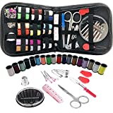 Sewing Kits for Adults Beginners: 72 / 112 / 136 / 226 PCS Basic Hand Sewing Kit and Crochet Hooks for Emergency Summer Campers Travel and Home, with Scissors,Thimble,Thread,Needle Kits