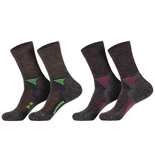 socksPUR Funktions- u. Trekking-Socken mit Merinowolle mit Spezialpolsterungen / 1 PAAR (43-46, anthrazit)