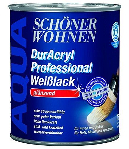 Schöner Wohnen DurAcryl Professional Weißlack Reinweiß Glänzend 375 ml