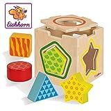 Eichhorn - Steckbox - 7-teiliges Steckwürfel Set aus Birkenholz