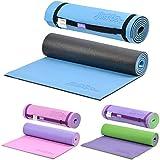 just be... Yogamatte 180 cm/10 mm Schaumstoff Blau/Schwarz