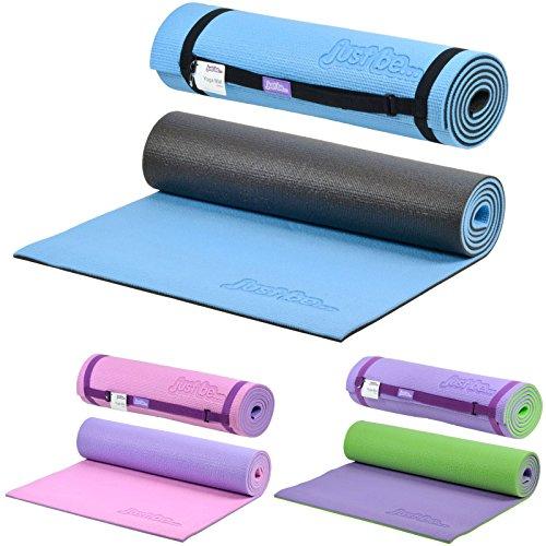 just be...® Esterilla Yoga – 180cm – Espuma de 10mm de Grosor - Azul/Negra