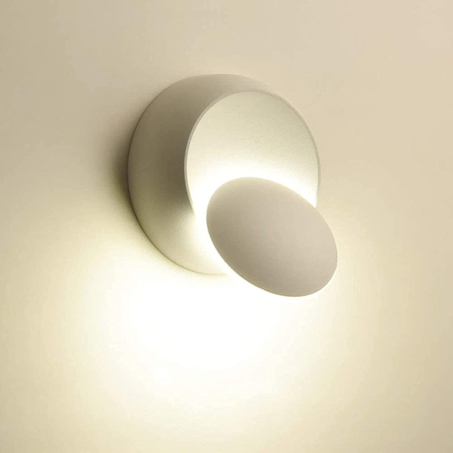 HUER Indoor High quality new Reservation Wall Lights White Modern LED 5W Lamp Warm