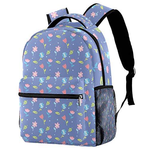 Mochila para Adolescentes Flores de Pascua Mochila para portátil Impermeable Bolso pequeño para computadora para portátil de 14 Pulgadas 29.4x20x40cm