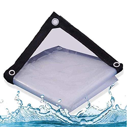 BWBG Lona Impermeable Transparente para Terrazas 5X5m/16x16ft, Lonas Transparente para JardíN Resistente Al Agua Anti CongelacióN Carpa Exterior De PláStico para Invernadero JardíN Agricultura
