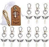 Amajoy Set di 50 ciondoli per matrimonio, battesimo, Natale, comunione, cresima, regalo per ospiti, ciondolo, angelo custode, compleanno, Natale, battesimo, comunione, regalo per bomboniere
