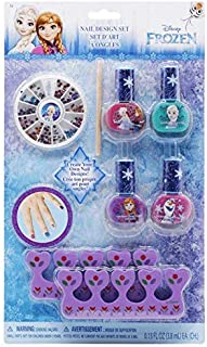 Disney Frozen Nail Design Set for Girls / Frozen Gift Set / Girl Nail Art Set / Nail Decoration Set Frozen Nail Polish Frozen / Frozen Nail Paint with Purse