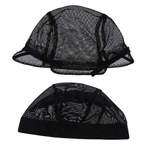 SM SunniMix 2pcs / Set Chapeau De Dentelle Extensible Maille Filet Faisant Perruques élastique Filet Snood Perruque