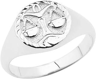 925 Sterling Silver Zodiac Men Women Unisex Jewelry Ring