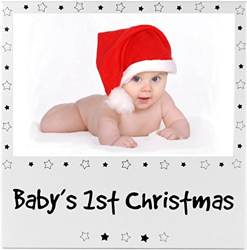 Baby's First Christmas Couleur argent Cadre photo bébé cadeaux fantaisie 1st Xmas