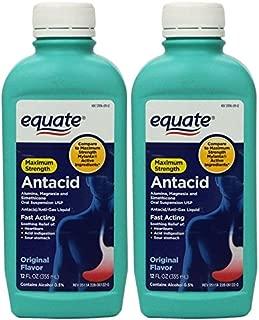 Equate - Antacid/Anti-Gas Liquid - Maximum Strength, Original Flavor, 12 fl oz, Pack of 2