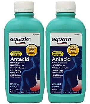 Equate - Antacid/Anti-Gas Liquid - Maximum Strength Original Flavor 12 fl oz Pack of 2